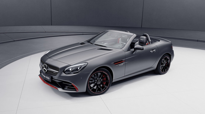 Mercedes-Benz SLC Red Art Edition. Foto: spothits/ampnet/Daimler