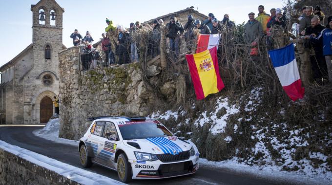 Skoda Fabia R5, WRC-2-Klassensieger der Rallye Monte Carlo 2017. Foto: spothits/ampnet/Skoda