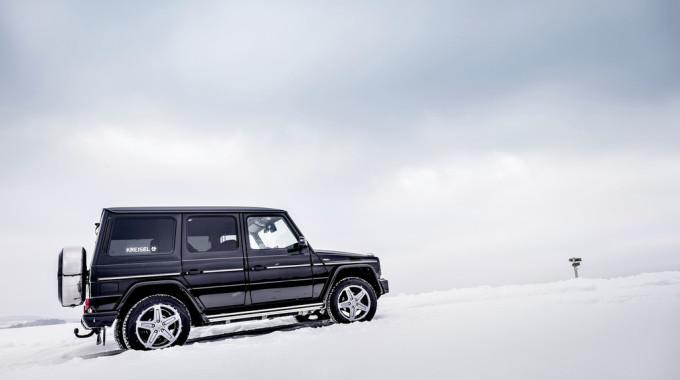 Mercedes-Benz G-Klasse von Kreisel Electric: Arnold Schwarzenegger signiert das erste Exemplar. Foto: spothits/Kreisel Electric/Martin Pröll