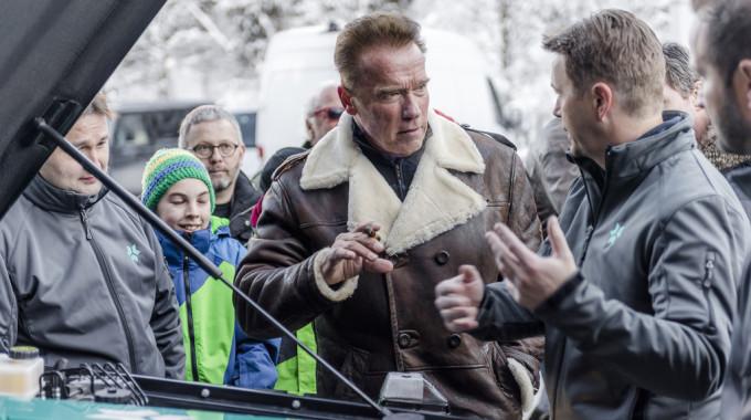 Mercedes-Benz G-Klasse von Kreisel Electric: Arnold Schwarzenegger half bei der Entwicklung mit. Foto: spothits/Kreisel Electric/Martin Pröll