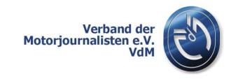 Verband der Motorjournalisten VdM. Grafik: spothits/VdM