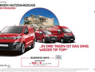 Citroën Business Days: Spezialangebote für Gewerbekunden. Grafik: spothits/Citroen