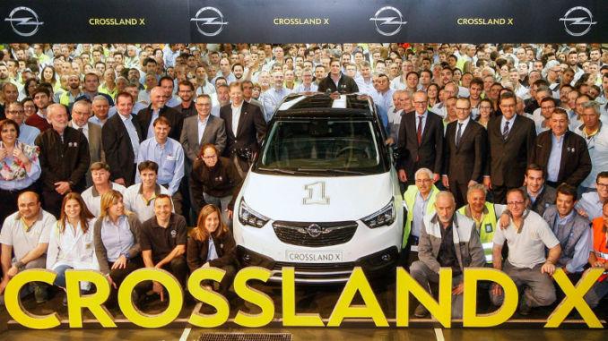 Die Fertigung des neuen Opel Crossland X in Saragossa ist gestartet. Foto: spothits/Opel