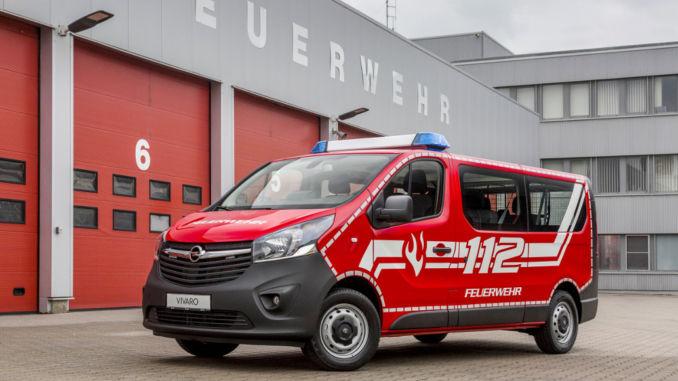 Opel Vivaro Feuerwehr-Mannschaftswagen. Foto: spothits/Opel