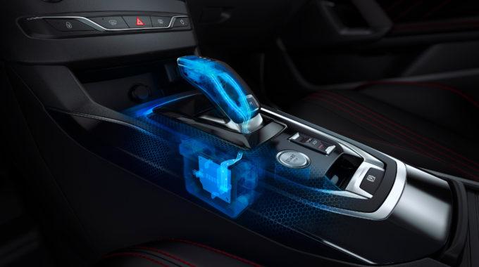 Neues Achtgang-Automatikgetriebe EAT8 im Peugeot 308. Grafik: spothits/Peugeot