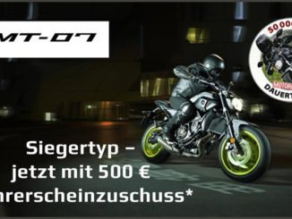 Yamaha sponsort Motorrad-Führerschein mit 500 Euro. Grafik: spothits/Yamaha