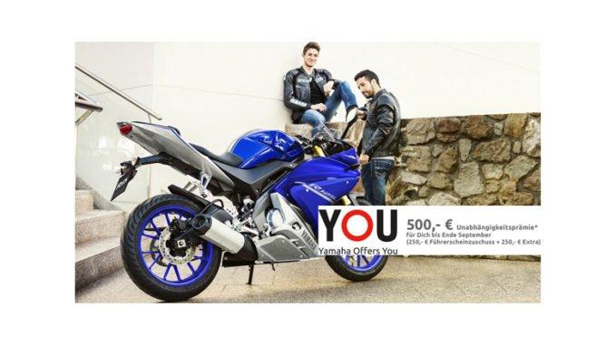 Yamaha verdoppelt Führerscheinzuschuss auf 500 Euro. Foto: spothits/Yamaha