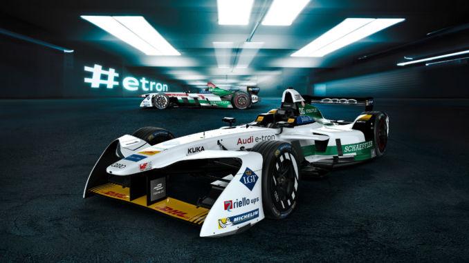Audi e-tron FE04 startet bei Formula E. Foto: spothits/Audi