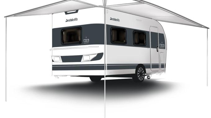 Caravan Salon Düsseldorf: Dethleffs Coco – Caravan Leichtgewicht. Foto: spothits/Dethleffs