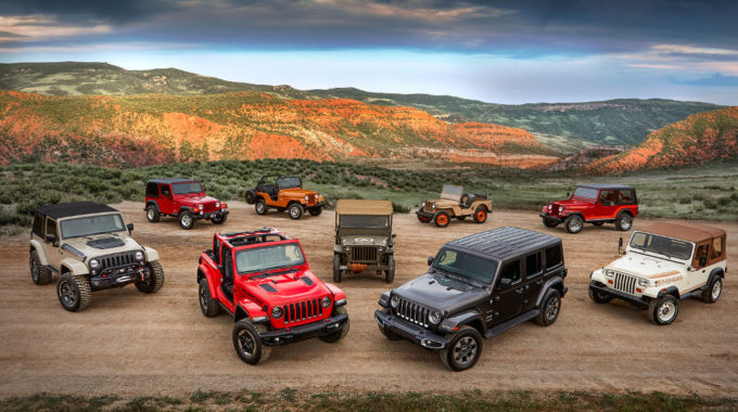 Jeep Wrangler Familie. Foto: spothits/Jeep