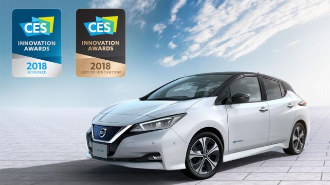 """Nissan Leaf mit """"Best of Innovation Award 2018"""" ausgezeichnet. Foto: spothits/Nissan"""