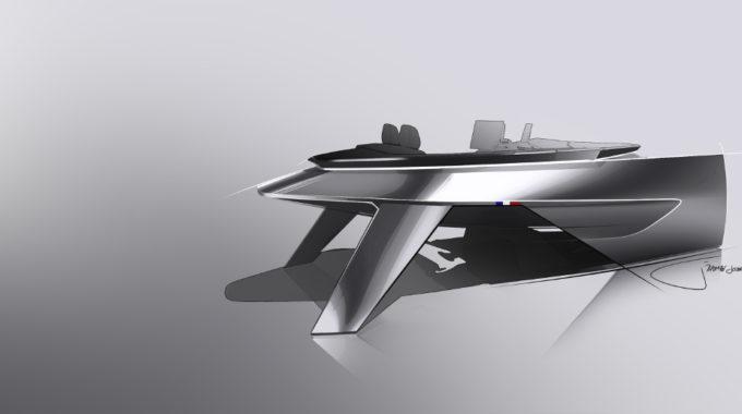 Peugeot i-Cockpit für Beneteau-Motorboote. Grafik: spothits/Peugeot/Beneteau