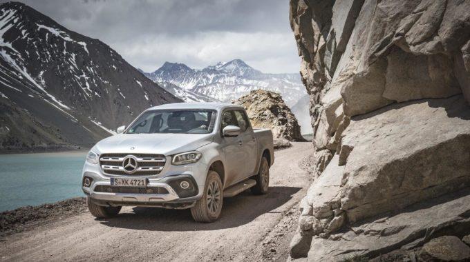 Mercedes-Benz X-Klasse – Exterieur, Diamantsilber metallic, Ausstattungslinie Power. Foto: spothits/Daimler