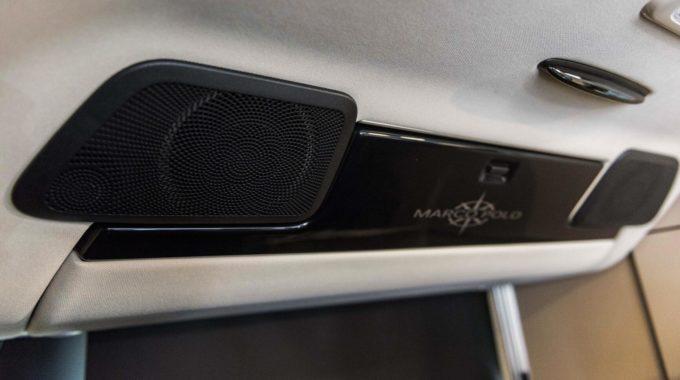 Mercedes-Benz Marco Polo mit Jehnert Soundsystem, inklusive einem Subwoofer und 5-Kanal DSP Verstärker. Foto: spothits/Daimler