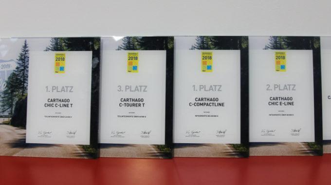 Carthago holt Preise bei Wahl zu Reisemobil des Jahres. Foto: spothits/Carthago