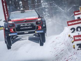 Rallye Schweden: Craig Breen erringt Podiumsplatz. Foto: spothits/Citroen