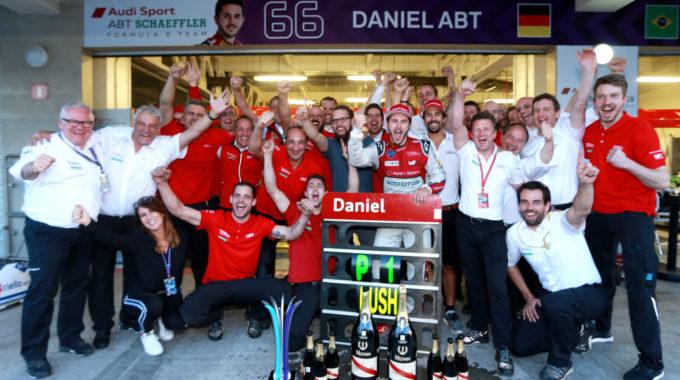 Audi Sport ABT Schaeffler, Daniel Abt, Lucas di Grassi, Allan McNish. Foto: spothits/Audi Motorsport/Michael Kunkel