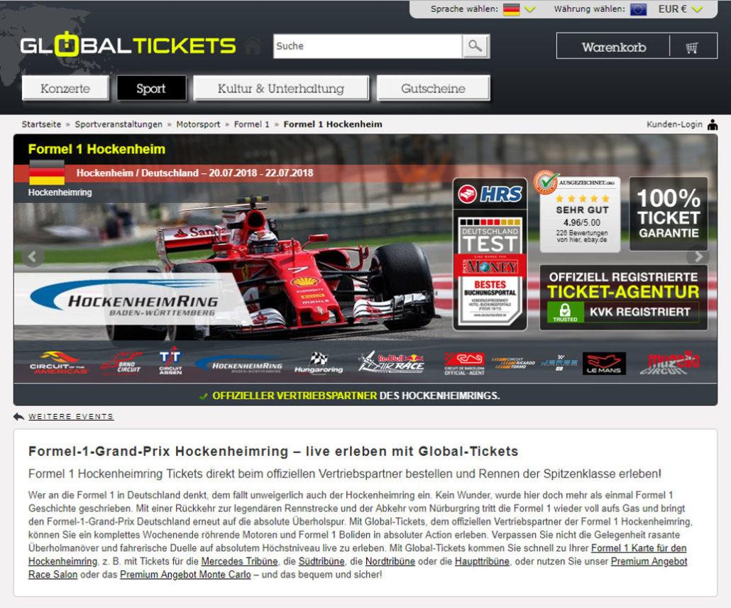 1 formel camping hockenheimring Formel 1