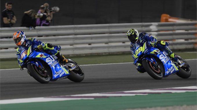 MotoGP Weltmeisterschaft Katar:Iannone in den Top Ten. Foto: spothits/press@suzuki-racing.com.