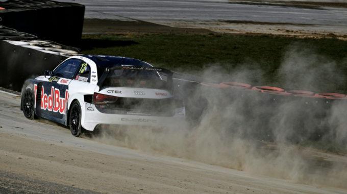Audi S1 EKS RX quattro #13 (EKS Audi Sport), Andreas Bakkerud. Foto: spothits/Ferdi Kräling Motorsport-Bild GmbH