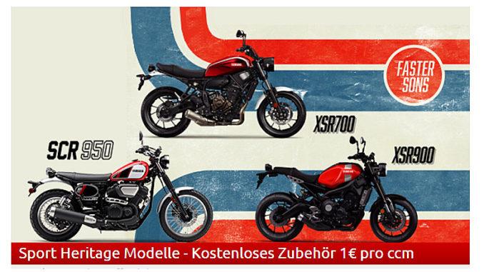 Yamaha startet Biker-Saison mit Angeboten. Grafik: spothits/Yamaha